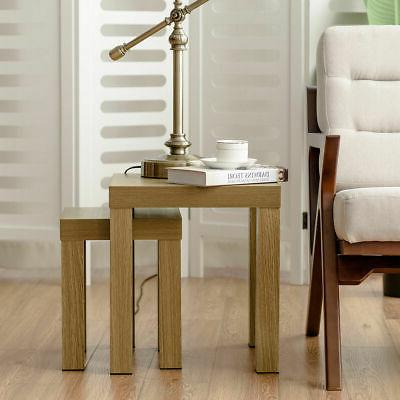 Set of 2 Nesting Coffee End Table Tables Living Room Home Decor