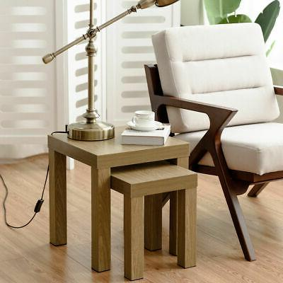 Set of Nesting Coffee End Table Side Decor Wood Color