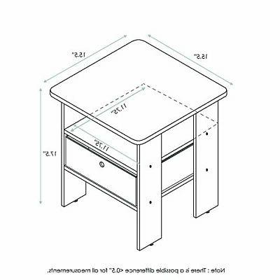 Side For Small Spaces Narrow Tables Night Stand Wood