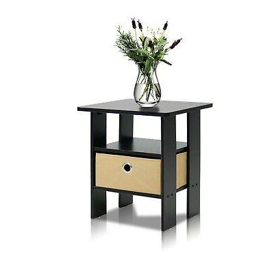 Side Spaces Narrow Tables Stand Wood