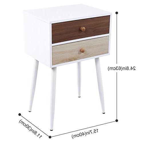 Lifewit Nightstand Drawers, End Table Beside Sofa, and Easy Accent Table Living Apartment, in