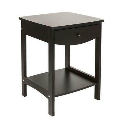 simple design wood end side table night