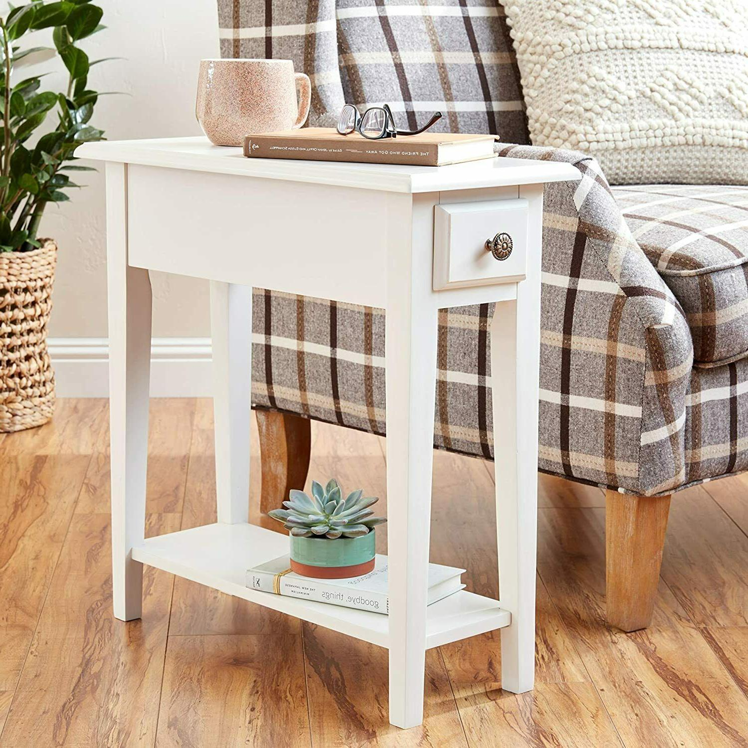 Small Side Table Storage Living Room
