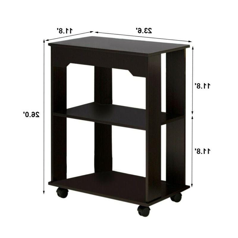 Small Table Narrow Room Furniture Night Stand Black