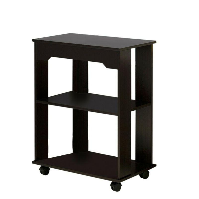 Small End Side Living Room Stand Black