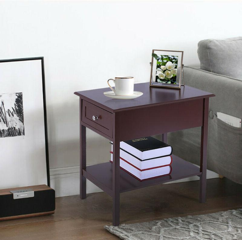 Small Table Narrow Side Storage Furniture Stand