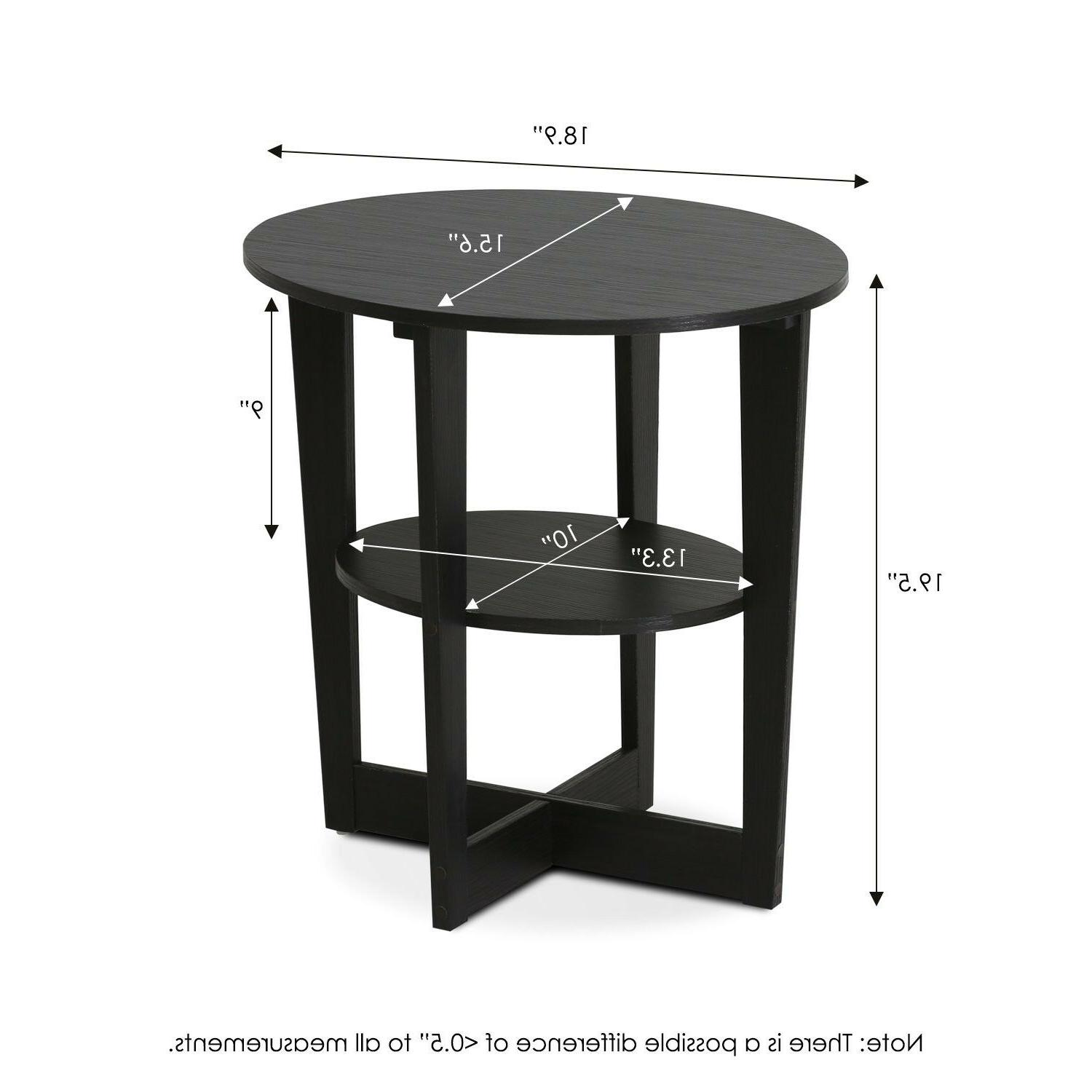 Small Table Nightstand Side With Black Wooden
