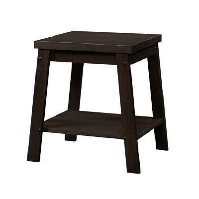 Small Side Open Shelf Wood Sofa End Tables Furniture