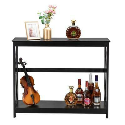 Sofa Console Table with Drawer Storage Shelves Narrow Accent Table NEW