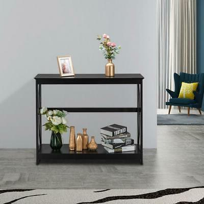 Sofa Side Console Table with Drawer Shelves Accent Table NEW