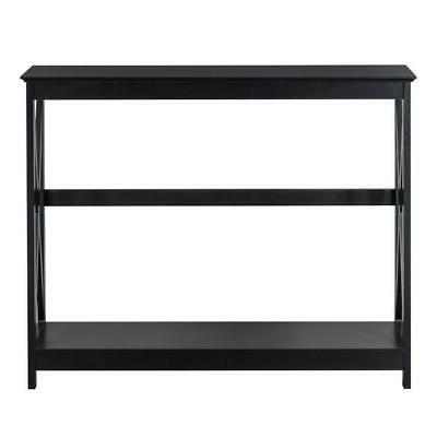 Sofa Side Console with Drawer and Shelves NEW
