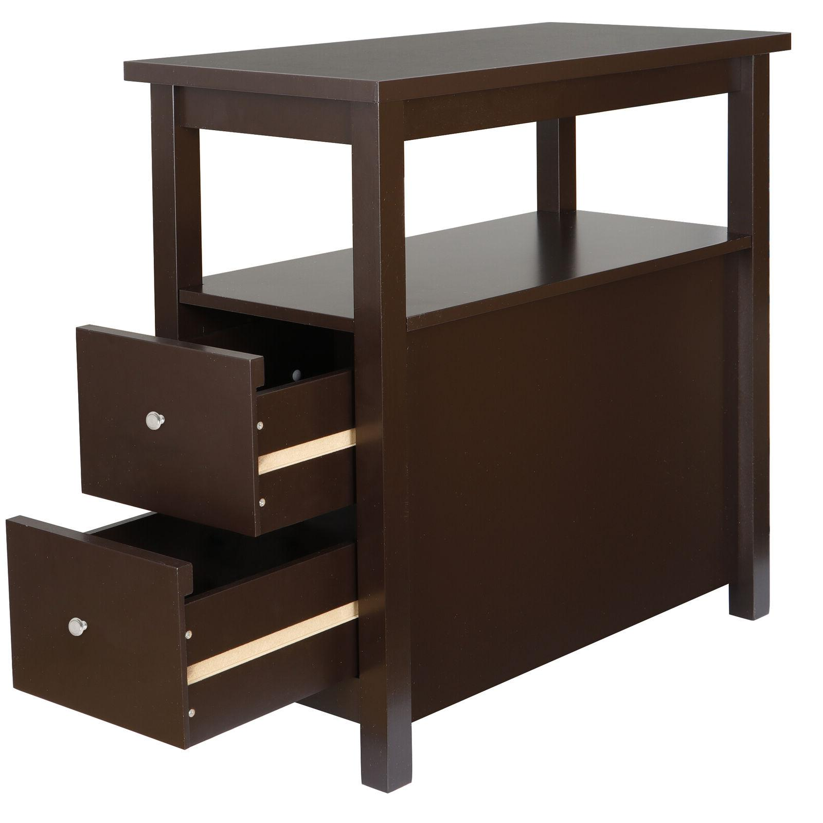 sofa side end table with 2 drawer