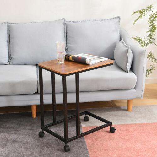 Sofa Snack Table/End Table Coffee Walnut