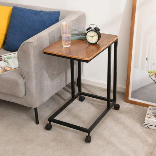 Sofa Side Table Snack Table/End Table Coffee C Walnut