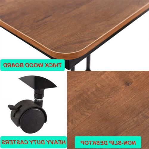 Snack Table for Coffee Laptop Walnut