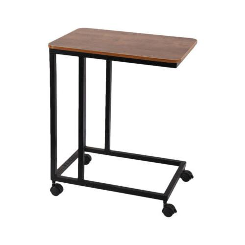 sofa side table mobile snack table end