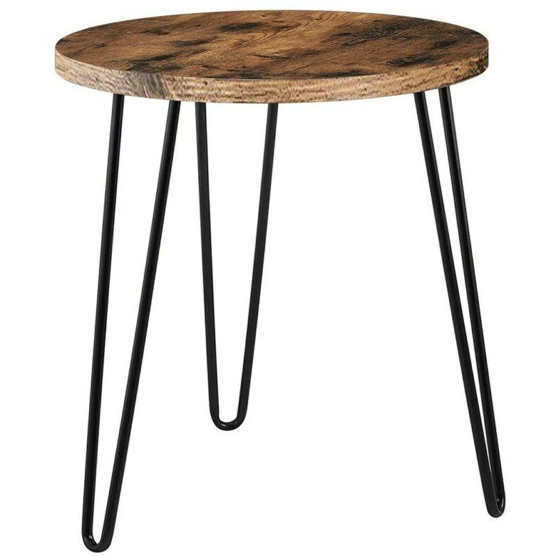 Brown End Table Coffee Side Night Stand Small Round Nesting