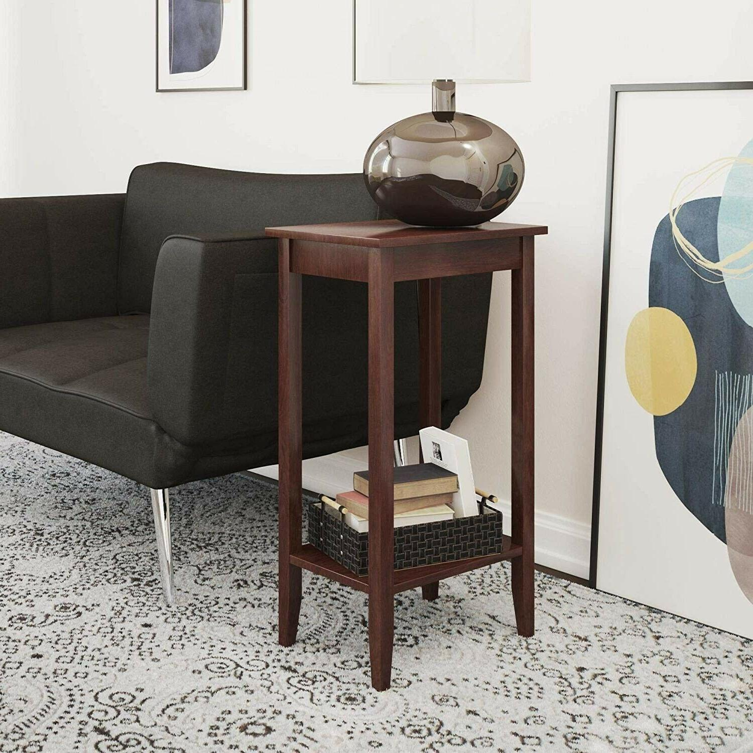 Tall End Side Small With Storage Shelf Sofa Couch