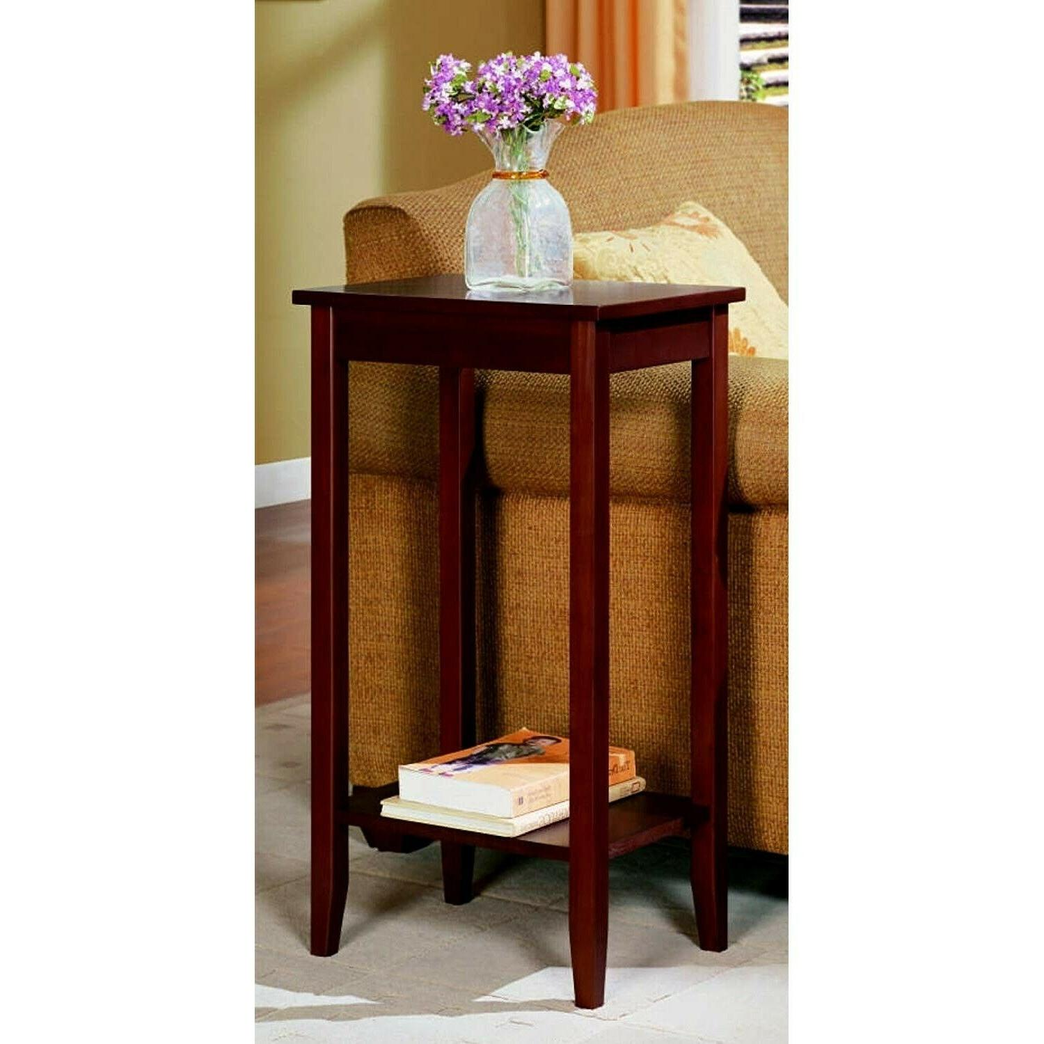 tall wood end table side for small