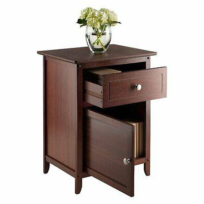 Winsome Table With Cabinet Multiple Colors