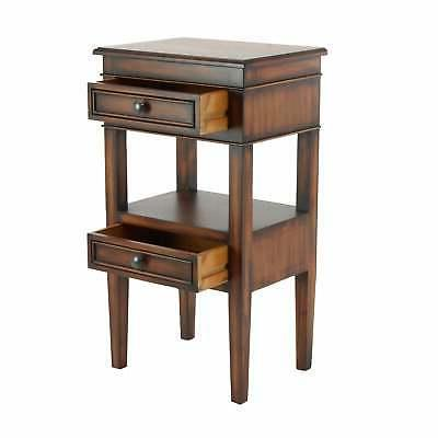 Traditional Inch Wooden with Drawers by Brown