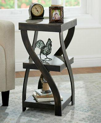 twisted side table modern accent table