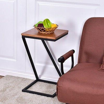 US Home Coffee Tray Side Sofa Table w/Wood Top Kitchen Furni