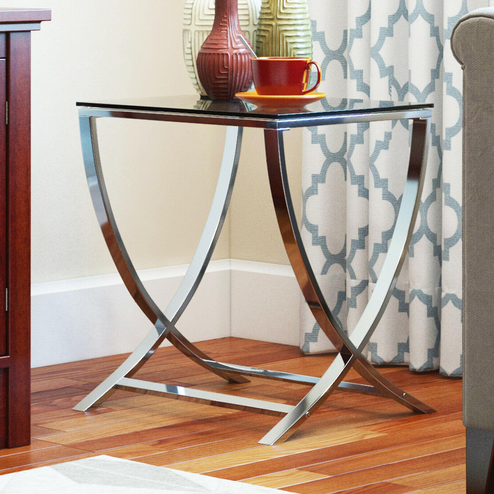 vivien glass accent end side table living