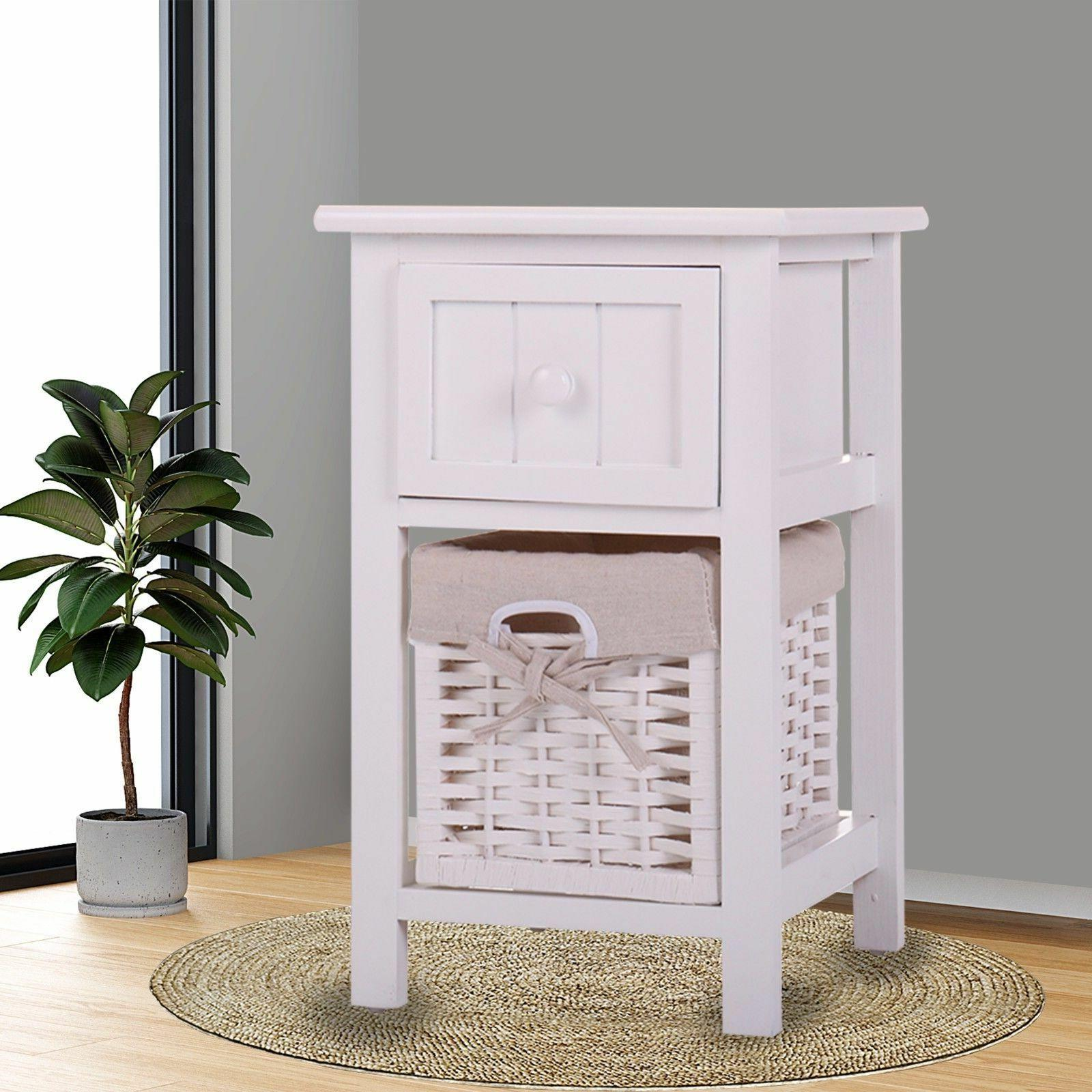 White Nightstand Table Table