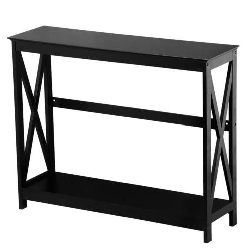 Console Table Side Stand Sofa Entryway Hall Display Storage