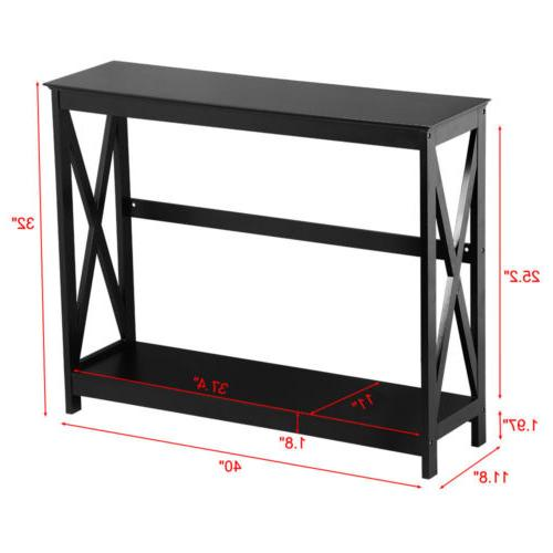Console Table Accent Side Stand Hall Storage