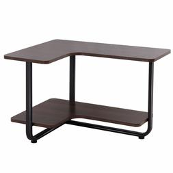 Lifewit L-shape 2-tier Couch Side End Table Huge Capacity So
