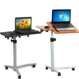 Laptop Rolling Desk Adjustable Tilt Stand Portable Caster Ca