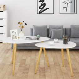 Large Nesting Coffee Tables for Living Room Drop Shape End S