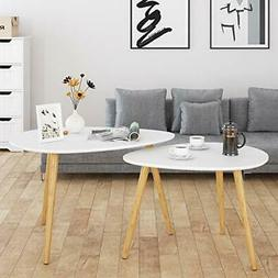 HOMFA Large Nesting Coffee Tables for Living Room, Drop Shap