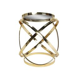 Kate and Laurel Marea Round Metal Mirrored Accent Side Table