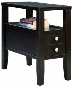 Mathew Cherry Storage Chairside End Table By Crown Mark Furn