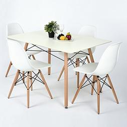 Midcentury Kitchen Dining Table with Wooden Legs Tea Coffee