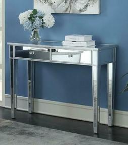 Mirrored Console Table Hall Side Table w/ Drawers Entryway D