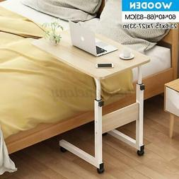 Mobile Bed Side Table Adjustable Laptop Stand Computer Study