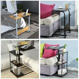 Mobile Laptop Stand Side Table Adjustable Angle/Height Desk