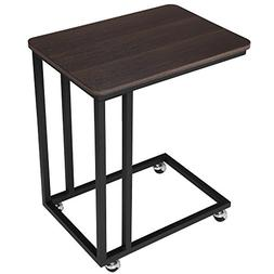 SONGMICS Mobile Snack Table Sofa Side Table for Coffee or La