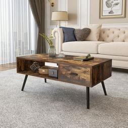 YITAHOME Modern Coffee Table Side End Wood Table W/Storage S