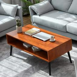 Modern Coffee Table Walnut End Sofa Side Table Furniture wit
