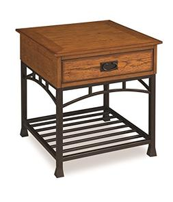 Home Style 5050-20 Modern Craftsman End Table, Distressed Oa
