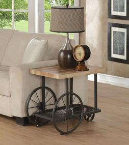 Modern Farmhouse Decor Industrial End Table Side Accent Nigh