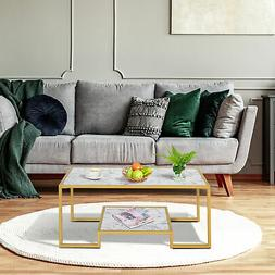 Modern Living Room Side End Table with Underneath Storage Sh