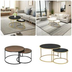 Modern Round Coffee Tea Table Sofa Bed Side Living Room Marb