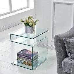 Modern Side Table,S-Shape End Table Living Room Furniture,Cl