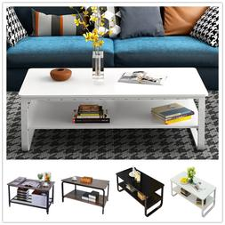 Modern Wood Tea Coffee Table Side End Table for Living Room